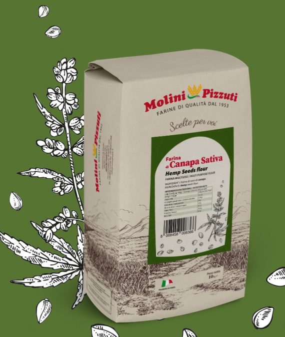 Hemp seeds flour Molini Pizzuti